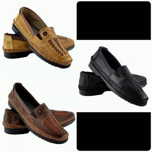 532889f1a1 Sapato masculino mocassim couro kit 3 par frete grátis tran