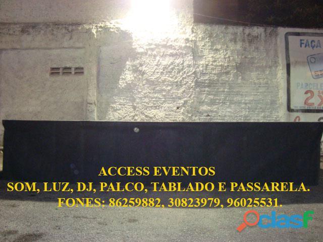 Palco 4x3 Coberto R$ 700,00 reais, Mega Oferta Economia de dinheiro barato evento som pra banda luz