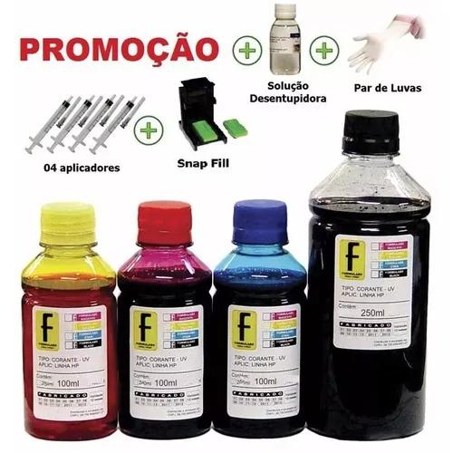 650ml kit tinta recarga cartuchos impressora hp 664 122 662