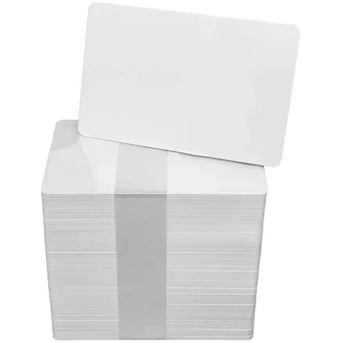 Cartão / cartões pvc branco p/ crachás 0,76mm * cento