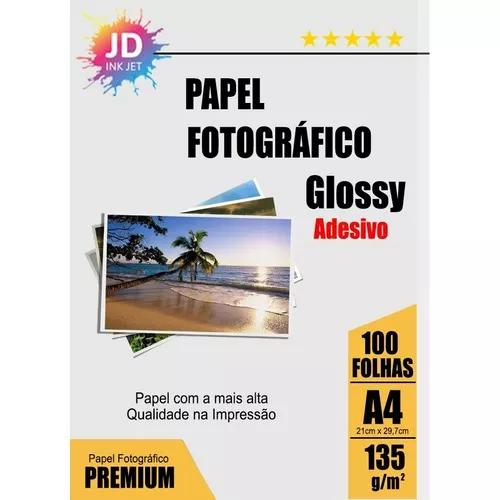 Foto Adesivo 100un Glossy Photo Paper À Prova D´água 135g
