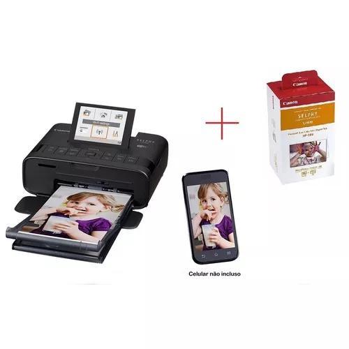 Impressora canon selphy cp1300 + cartucho e papel rp-108in
