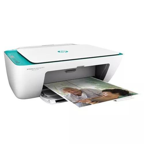 Impressora hp multifuncional 2675 wifi + cartuchos cabo usb