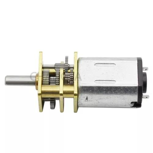 Mini motor redução dc 12v n20 3 un 300rpm + 3 un 100 rpm