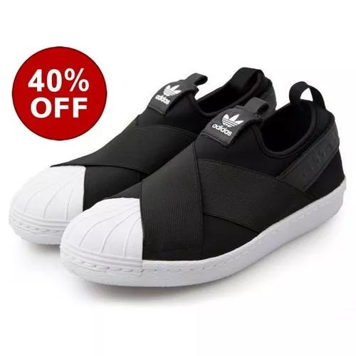 543a20c3f4 Tenis adidas slip on superstar unisex original black