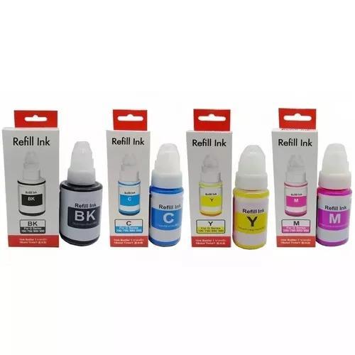 Tinta para uso canon g1100 g2100 g3100 g3102 - kit 04 cores