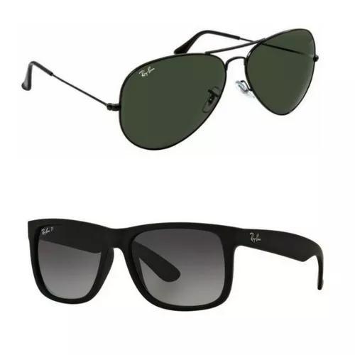 2 oculos ray ban aviador f