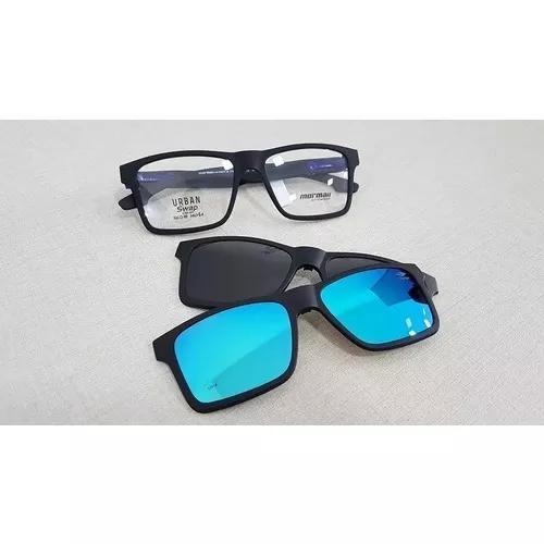 Armação Oculos Grau Mormaii Swap M6057a4156 Clip On ==11