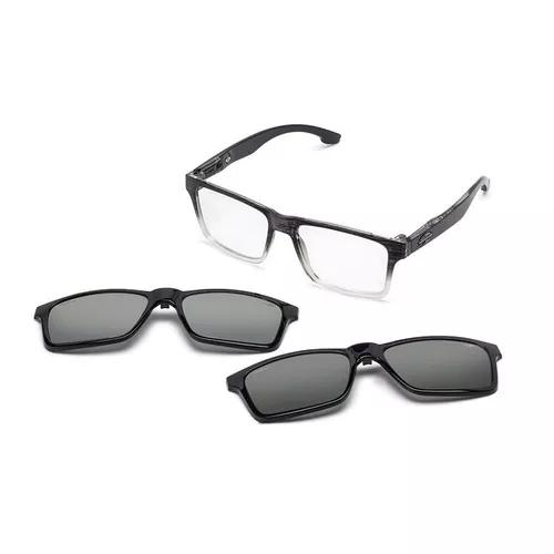 Armação oculos grau mormaii swap m6057adk56 clip on