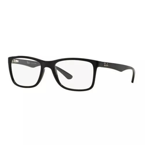 Armação oculos grau ray ban rb7027l 2000 56mm preto brilho