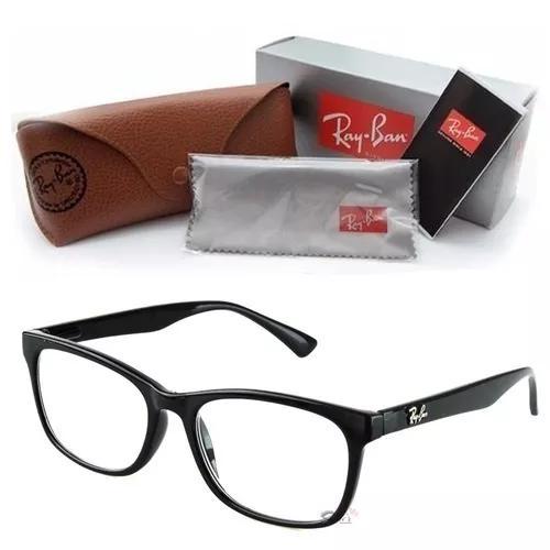 Armação Rayban Óculos Grau Masculino Acetato Quadrado