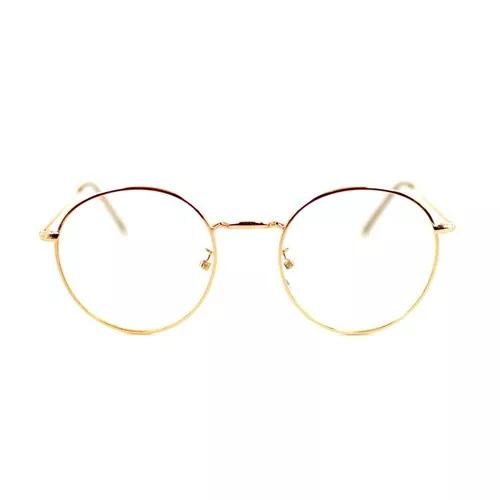 Armação redonda john lennon óculos c/ lentes s