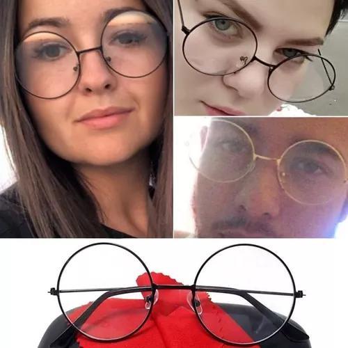 1a2be0d0063e2 Armação unissex redonda retrô óculos john lennon grande