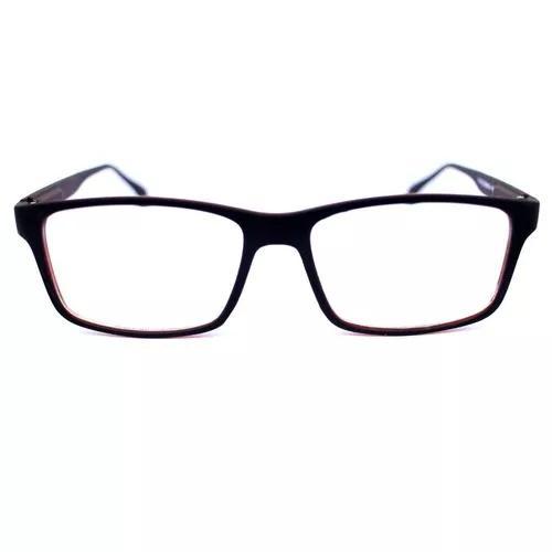Armação óculos acetato masculina quadrada lentes grau