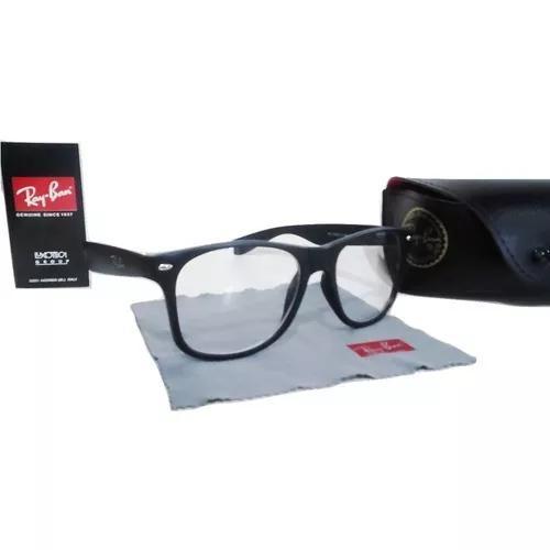 Armação óculos de grau preto fosco oferta