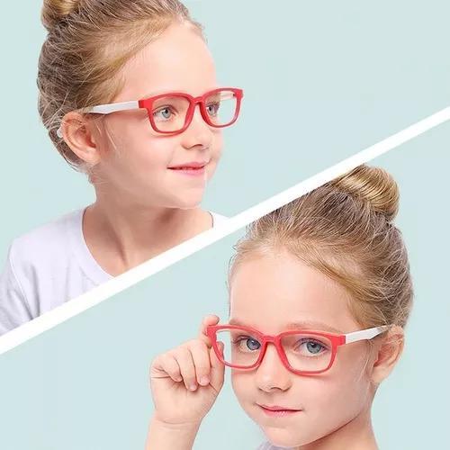 Armação óculos grau infantil flexível masculina /