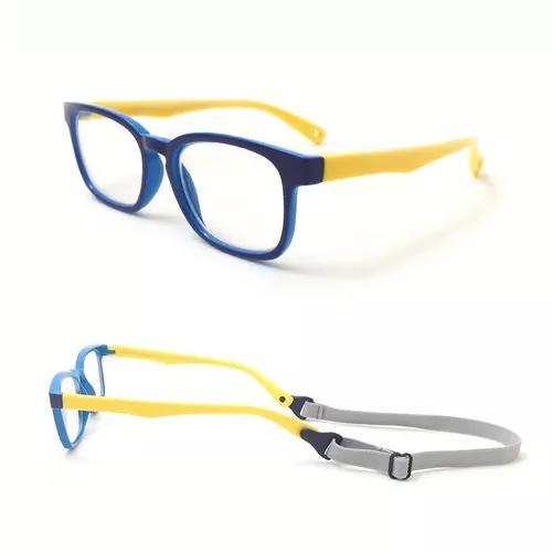 43fdaa5f25099 Armação óculos grau infantil flexível silicone menino