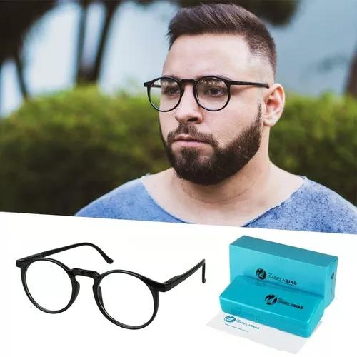 Armação óculos grau masculino redondo geek isabela dia