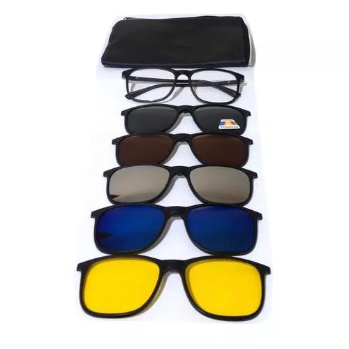f0cf6fb8de752 Armação óculos grau sol clip on polarizado espelhado