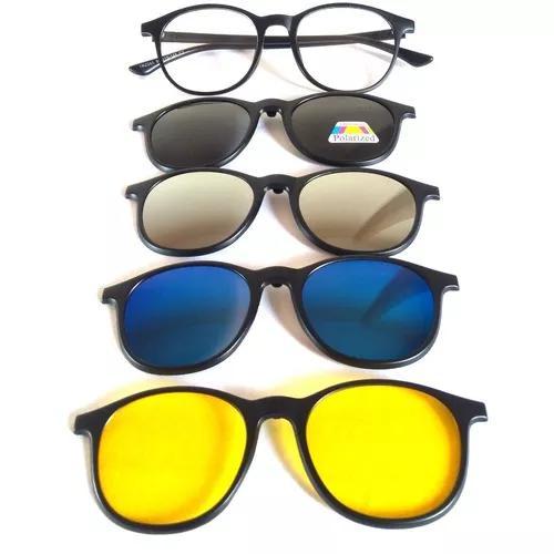Armação óculos grau sol clipon polarizado espelhado 245