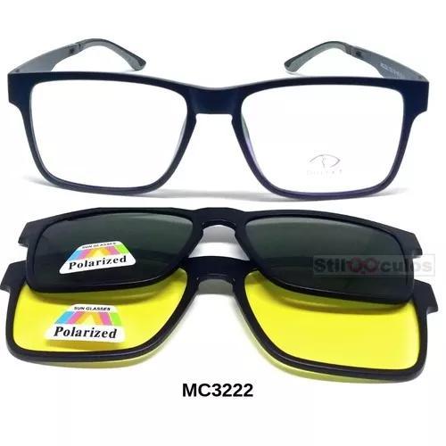 Armação óculos p grau clip on mc322 3
