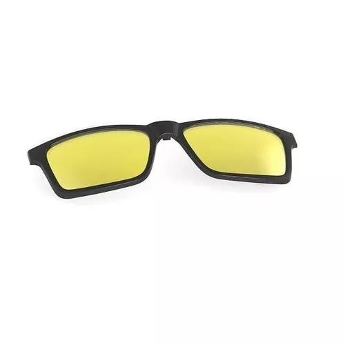 Clip on mormaii swap preto fosco lente amarela polarizada