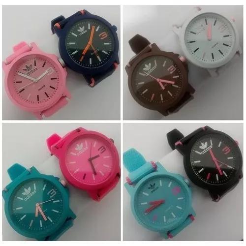 Kit 10 relógios adidas color várias cores + brinde