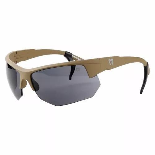 Kit oculos spartan caqui tan areia lente preta amarela