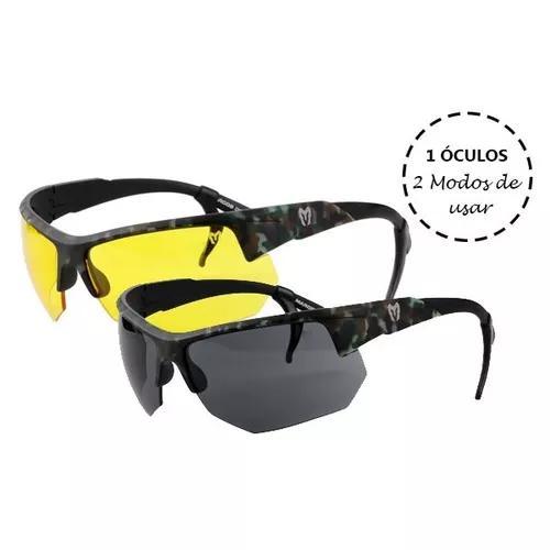 Kit óculos spartan cmf lente preta e amarela marcos do val