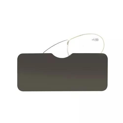 Mini oculos de leitura portátil com case - inox