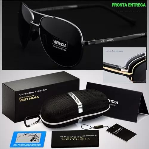 Oculos aviador original de sol polarizado masculino f