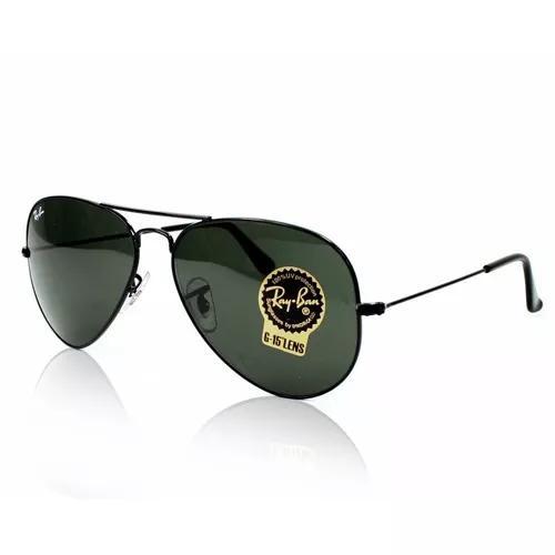 Oculos de sol ray ban aviador rb3025 - preto