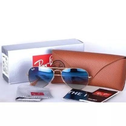 Oculos de sol ray ban aviador rb3025 tamanho p pequeno 58mm