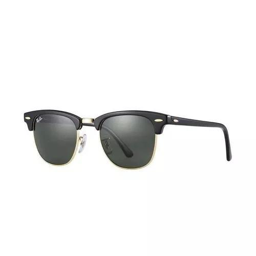 Oculos de sol ray ban clubmaster preto rb3016 51-21