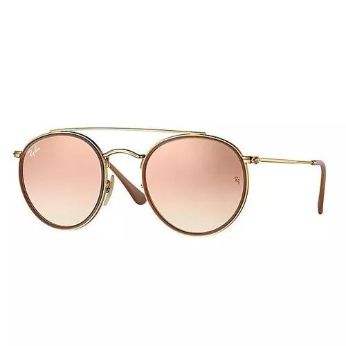 Oculos de sol ray ban double brindge rb3647 rose