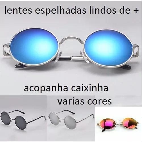73b4932b0 Oculos redondo de sol hd retro polarizado lente espelhadas