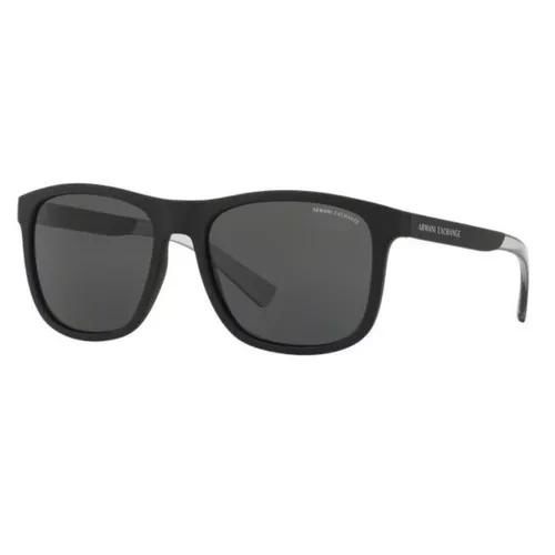 Oculos sol armani exchange ax4049sl 818287 preto fosco cinza