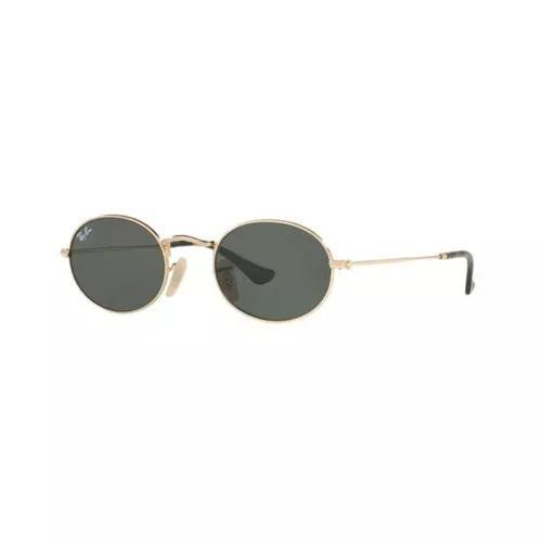 Oculos sol ray ban rb3547n 001 51 dourado lente verde g15