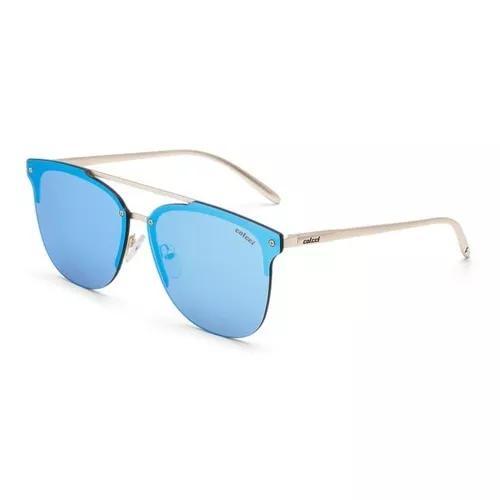 Oculos solar colcci c0068e1097 dourado lente azul espelhada