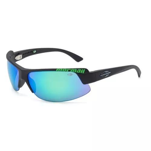 Oculos solar mormaii gamboa air 3 441abq85 preto fosco verde
