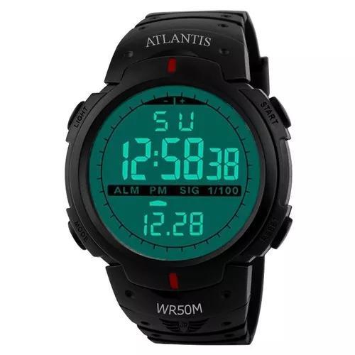 Relógio digital atlantis sport shock militar a prova