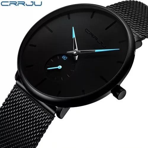 Relógio masculino crrju 2150 - ultra fino - quartz