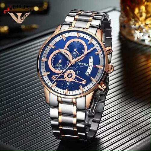 Relógio nibosi luxo original funcional promoção frete