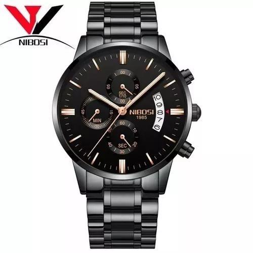 Relógio nibosi masculino original luxo todo funcional