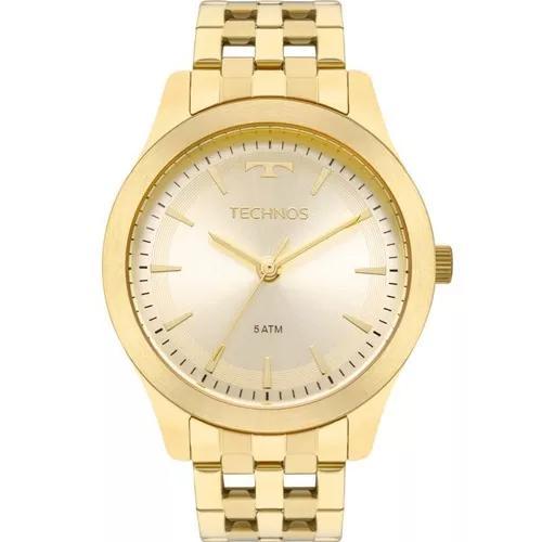 Relógio technos dourado promoção barato original