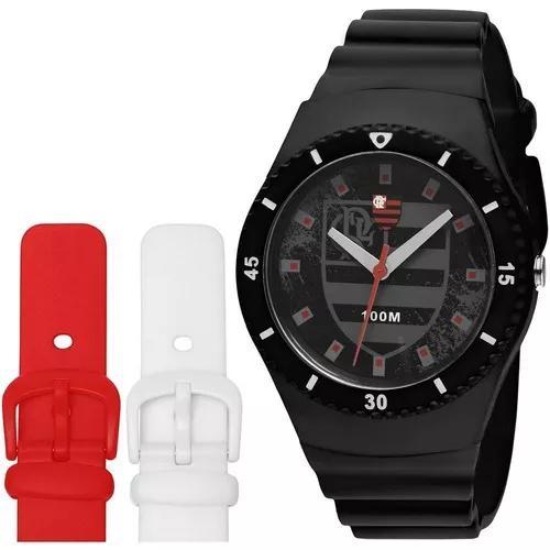 Relógio technos flamengo fla502a/8p troca pulseira ctsports
