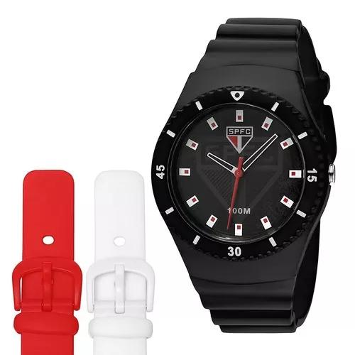 Relógio technos são paulo sao2035ag8 troca pulseira