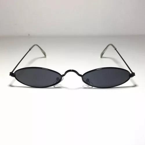 Culos de sol retro vintage anos 90 oval preto
