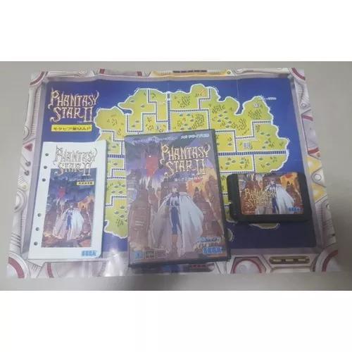 Mega drive completo phantasy star ii 2 + mapa original jp