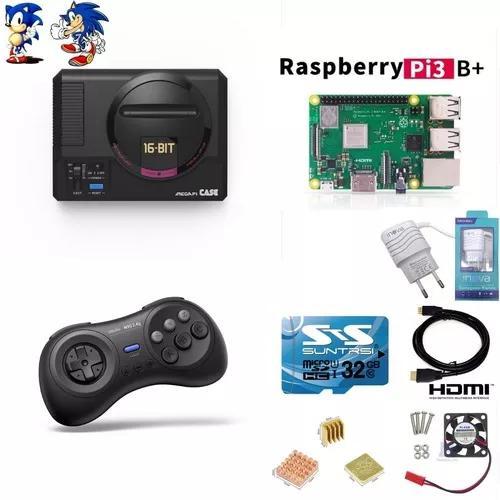 Mega Drive Mini Retroflag 10800 Jogos Controle 8 Bitdo M30